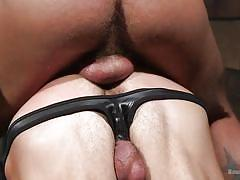 Master fucks his gay slave in the butt