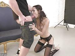 milf, blowjob, photoshoot, lingerie, brunette, 21 sextury, chad rockwell, lilu moon