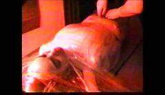 Pvc bondage porno blow job