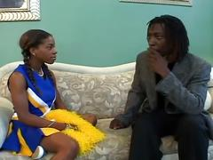Ebony cheerleader victoria meets sugar daddy