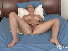 Hot blonde claire masturbating