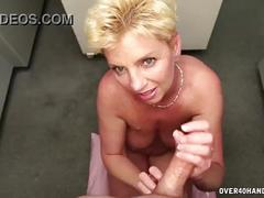 Naked milf handjob