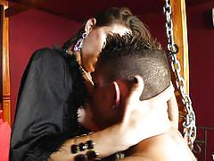 milf, bdsm, big tits, shemale, blowjob, brunette, corset, tied up, sucking tits, ts kink, tranny pack, adriana rodrigues