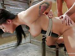 Bitch tied up and fucked hard