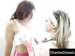 Big tit charlee chase works out slut carmen's big booty