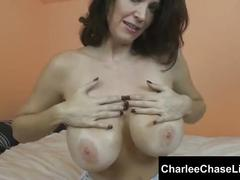 Tampa hot milf charlee chase oils up her perfect tits
