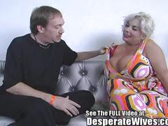 Desperate wife claudia marie eats cum!min