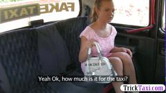 Super pretty amateur nailed in the taxi hard