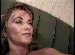 Horny squirting milf taken by young top gun.