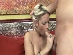 Blond big boobed girl fucked
