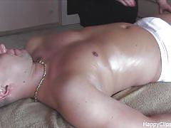 Carolina oily cock massage