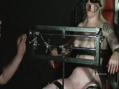 Tower of pain torments of blonde lifestyle slavegirl angel in hardcore painslut