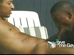 Black hustlers outdoor gay anal fucking