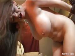 Big tits milf takes big black cock.