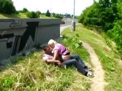 Blonde autobahn fuck in public serbian german