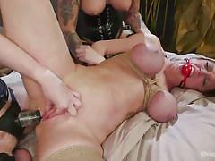 Three wild lesbian goddesses have hot sex