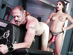 anal, femdom, bdsm, strapon, babe, brunette, anal fingering, handcuffed, device bondage, divine bitches, kink, abella danger, d. arclyte