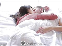 Passion-hd cute couple get on under the bed sheet