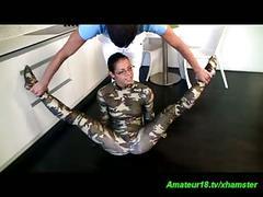 Flexi spandex gymnast