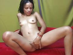 Sexy ebony girl of the taj mahal from india gets pussy fucked
