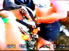 Festival flash 3,girl in zebra bikini host pub acc tv show