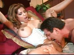 Huge muscle man fucks nice busty girl