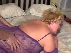 Granny blonde threesome ypp