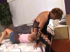 Milf teaches young blonde