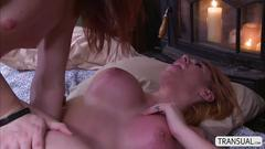 Transbabe beauty aspen in a hot sex with ts stefani