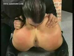 Master fucks beautiful blond milf with his finger in her tight asshole and spanks her