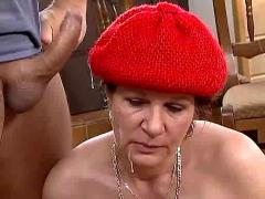 Granny keeps her hat on