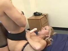 Milf strap on with younger girl