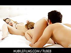 teen, petite, threesome, bgg, bi-sexual, oral-sex, pussy-licking, cumshots, ella-milano, nubile-films