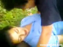 Indian teens students fucking classmates in a school park