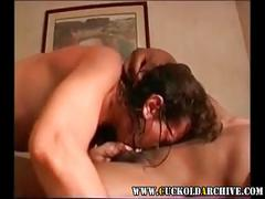 Cuckold archive - sexy milf riding hired black cock sissy