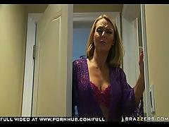 Big tit blonde milf fucks  sons best friend in kitchen