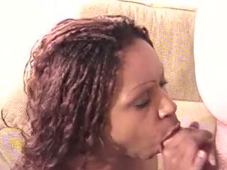 Sweet ass ebony gives head like a pro and takes facial