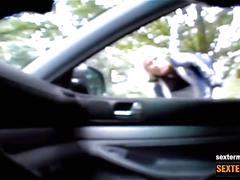 Sexy fuesse - hidden cam im auto