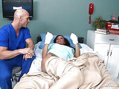 Male nurse bathes his patient