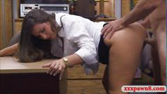 Sexy amateur chick fucked by a very randy pawnman