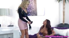 Busty lesbians milfs in pussy fingering session
