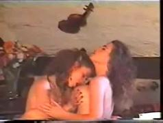 Hot french lesbian vintage kissing and pussy licking