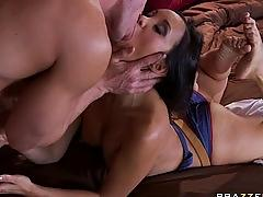 Big tit french brunette asian wife check under johnny's hood for big cock.