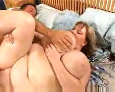Mature chubby gets a bbc