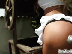 Ass traffic double penetrated and fed sperm
