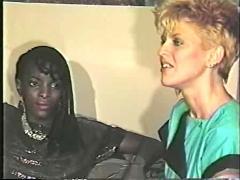 Black girl, white boy lesbian scene