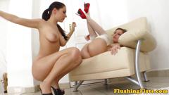 Brunette fisting lesbians masturbating and cumming so damn hard