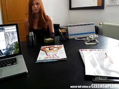 Czech redhead supermodel secret casting video