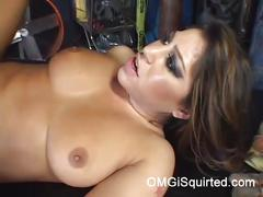 Britney stevens squirts when she sits on cock