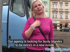 Publicagent busty blonde in pick think fucked in disused building